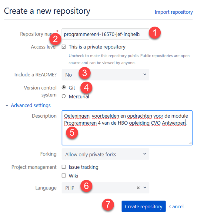 how to create issues in bitbucket repository
